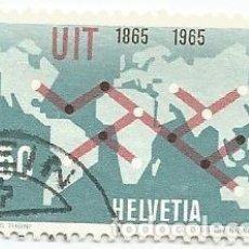 Sellos: 3 SELLOS USADOS DE SUIZA DE 1964-UNION INTERNACIONAL TELECOMUNICACIONES- YVERT 746-VALOR 50 CENTIMOS. Lote 236241245