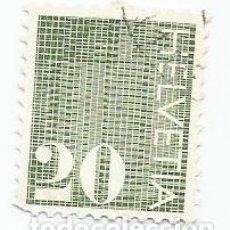 Sellos: SELLO USADO DE SUIZA DE 1970- CIFRAS- YVERT 862- VALOR 20 CENTIMOS. Lote 236348115