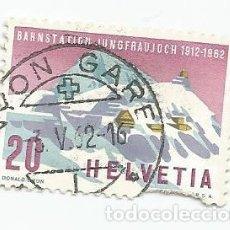 Sellos: SELLO USADO DE SUIZA DE 1962- PAISAJES- YVERT 691- VALOR 20 CENTIMOS. Lote 236349265