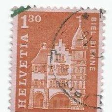 Sellos: LOTE DE 2 SELLOS USADOS DE SUIZA DE 1963- CASA GREMIO FORESTAL EN BIEL- YVERT 658- VALOR 1,30 FRANCO. Lote 236350350
