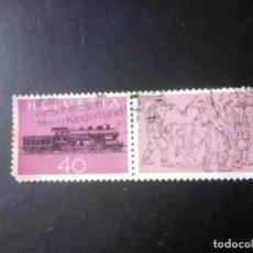 Sellos: SUIZA 1982, CENTENARIO DEL FERROCARRIL GOTTHARD. Lote 237042955