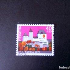 Sellos: SUIZA 1978, PRO PATRIA. Lote 240802835
