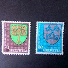 Sellos: SUIZA 1978, PRO JUVENTUD, ESCUDOS. Lote 240805185