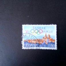 Sellos: SUIZA 1984, LAUSANA, VILLA OLIMPICA. Lote 240805760