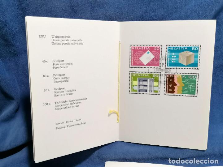Sellos: Suiza Lote 6 Sets Oficiales De Correos año 1976 matasellos conmemorativo - Foto 2 - 241053220