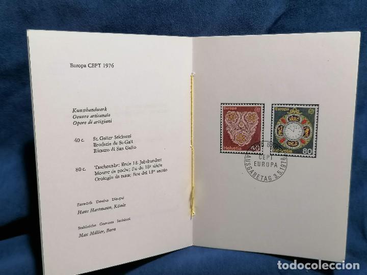 Sellos: Suiza Lote 6 Sets Oficiales De Correos año 1976 matasellos conmemorativo - Foto 3 - 241053220