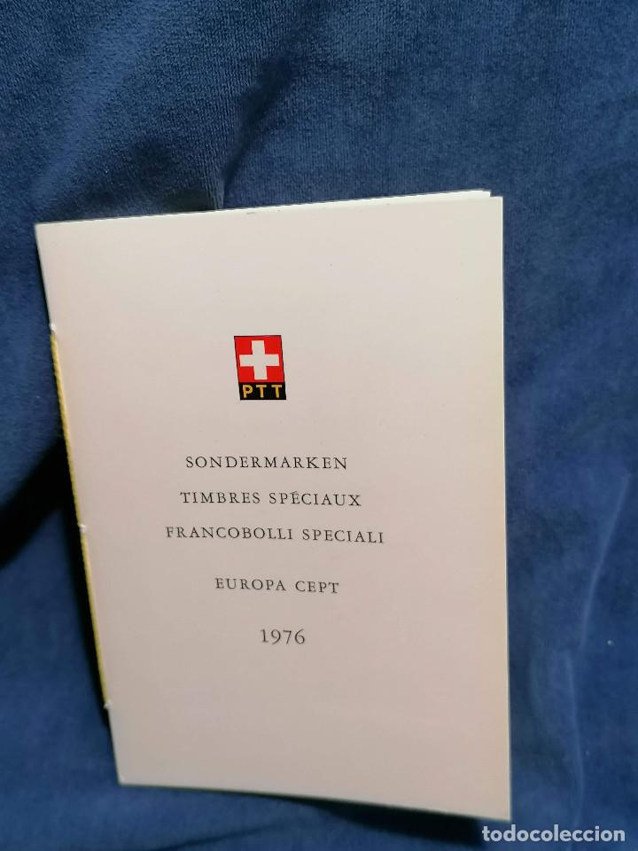Sellos: Suiza Lote 6 Sets Oficiales De Correos año 1976 matasellos conmemorativo - Foto 4 - 241053220