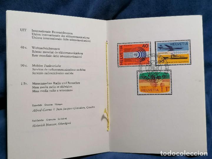 Sellos: Suiza Lote 6 Sets Oficiales De Correos año 1976 matasellos conmemorativo - Foto 5 - 241053220