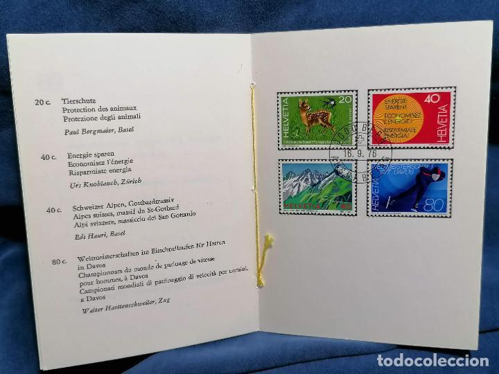 Sellos: Suiza Lote 6 Sets Oficiales De Correos año 1976 matasellos conmemorativo - Foto 9 - 241053220