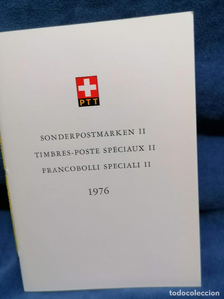 Sellos: Suiza Lote 6 Sets Oficiales De Correos año 1976 matasellos conmemorativo - Foto 10 - 241053220