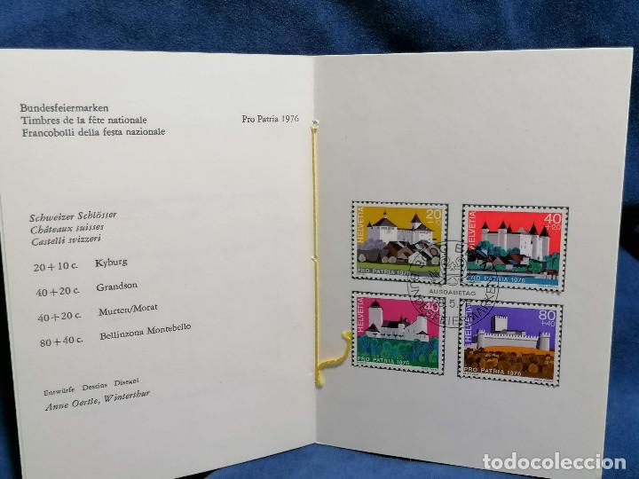 Sellos: Suiza Lote 6 Sets Oficiales De Correos año 1976 matasellos conmemorativo - Foto 11 - 241053220