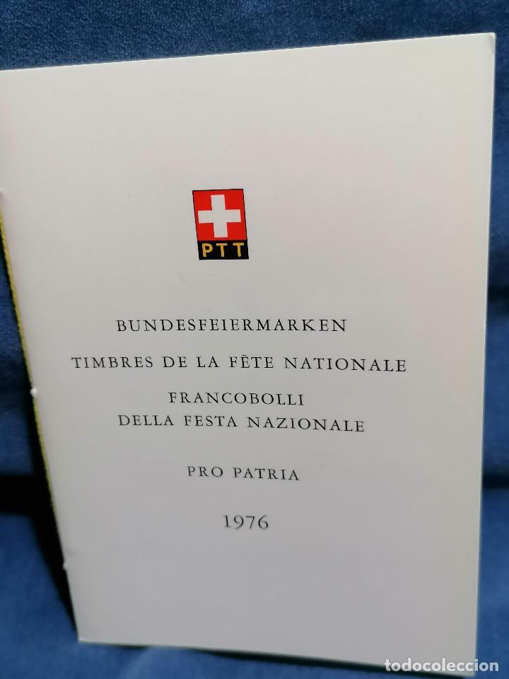 Sellos: Suiza Lote 6 Sets Oficiales De Correos año 1976 matasellos conmemorativo - Foto 12 - 241053220