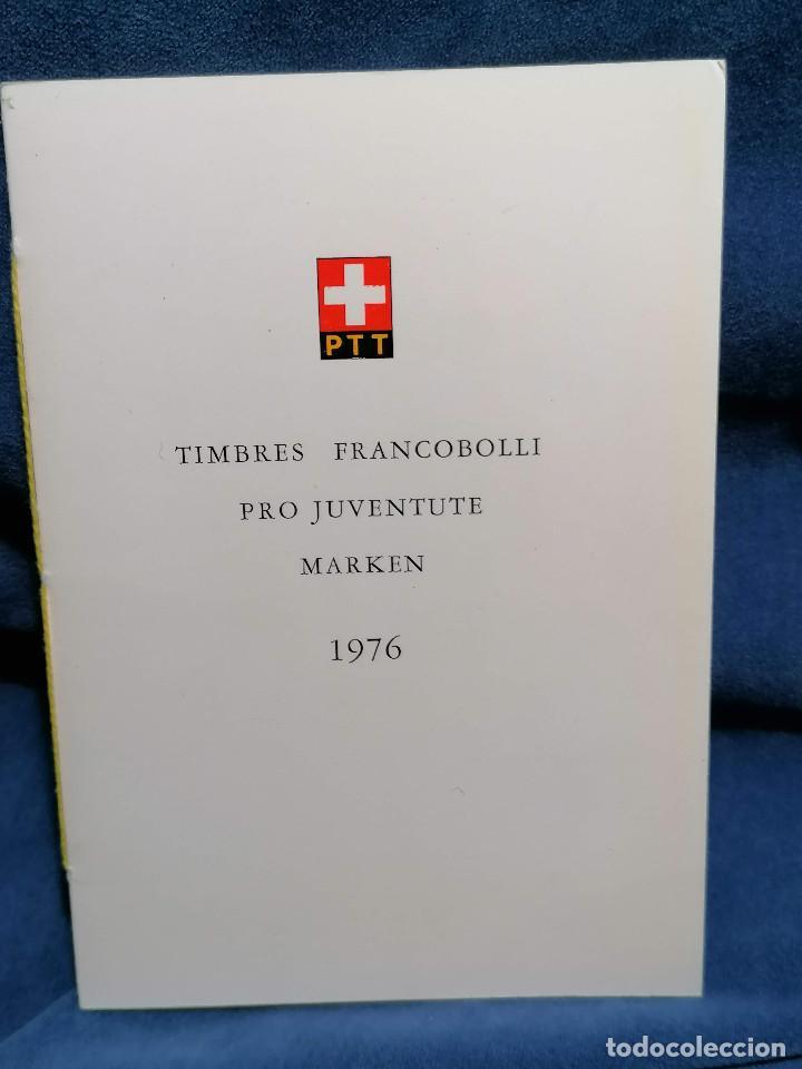 Sellos: Suiza Lote 6 Sets Oficiales De Correos año 1976 matasellos conmemorativo - Foto 13 - 241053220