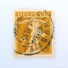 Sellos: SELLO POSTAL SUIZA 1910, 2 CT, HIJO DE WILLIAM TELL , USADO. Lote 241762095