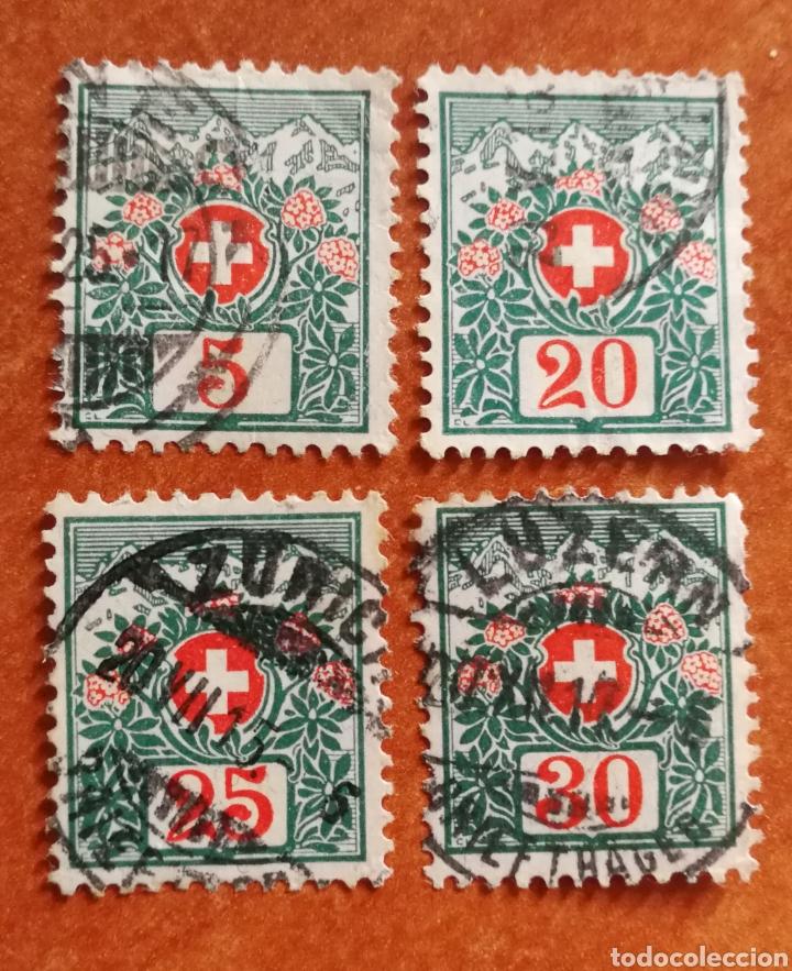 SUIZA AÑO 1910 USADOS (FOTOGRAFÍA REAL) (Sellos - Extranjero - Europa - Suiza)