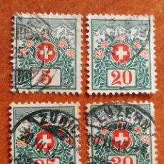 Sellos: SUIZA AÑO 1910 USADOS (FOTOGRAFÍA REAL). Lote 243852500