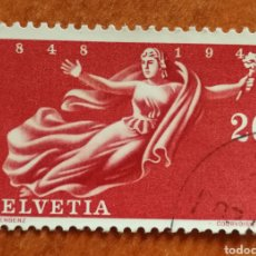Sellos: SUIZA, 100 ANIVERSARIO DEL ESTADO 1948 USADO (FOTOGRAFÍA REAL). Lote 243855450