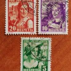 Sellos: SUIZA N°267/69 USADOS, PRO-JUVENTUD 1933 (FOTOGRAFÍA REAL). Lote 243863105