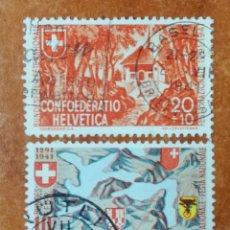 Sellos: SUIZA N°368/69 USADOS AÑO 1941 (FOTOGRAFÍA REAL). Lote 243867885