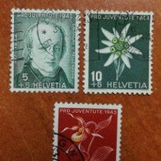 Sellos: SUIZA N°388/90 USADOS, PRO-JUVENTUD 1944 (FOTOGRAFÍA REAL). Lote 243877425