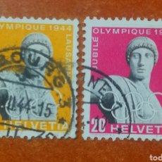 Sellos: SUIZA AÑO 1944 COMITÉ OLÍMPICO USADOS (FOTOGRAFÍA REAL). Lote 243884910
