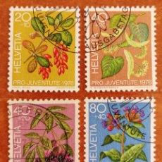 Sellos: SUIZA N°1013/16 USADA, PRO-JUVENTUD 1976 (FOTOGRAFÍA REAL). Lote 243983740