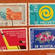 Sellos: SUIZA N°673/76 USADOS AÑO 1961 (FOTOGRAFÍA REAL). Lote 244180555