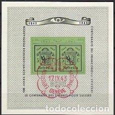 Sellos: HB USADA DE SUIZA 1943, YT 10, FOTO ORIGINAL. Lote 245160575