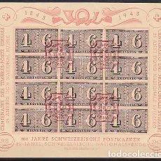 Sellos: HB USADA DE SUIZA 1943, YT 8, FOTO ORIGINAL. Lote 245186215