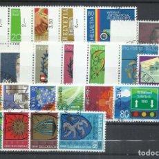 Sellos: SUIZA - 1980 - MICHEL 1169/1190 - USADO (AÑO COMPLETO) (VALOR DE CATALOGO.- 16.00€). Lote 245230025