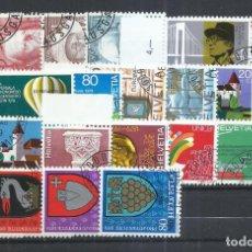 Sellos: SUIZA - 1979 - MICHEL 1146/1168 - USADO (AÑO COMPLETO) (VALOR DE CATALOGO.- 16.00€). Lote 245230085