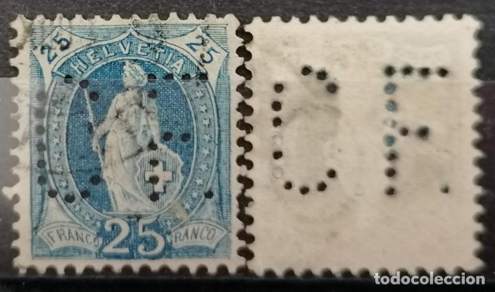 SUIZA 1905 .TALADRO CF PERF: 11 1/2 X 12, 25 FR. *.MH ( 21-305) (Sellos - Extranjero - Europa - Suiza)
