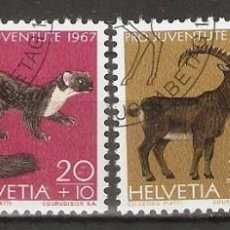 Sellos: SUIZA.1967. YT 799/802. FAUNA. Lote 253112975