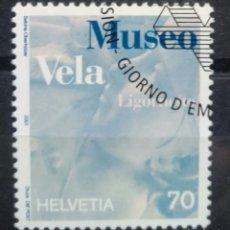 Sellos: SUIZA 2001 MUSEO DE VELA SELLO USADO. Lote 255919910