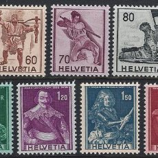 Timbres: 1941 SUIZA YV 358/366 SERIE HISTÓRICA (YVERT&TELLIER). Lote 257368300