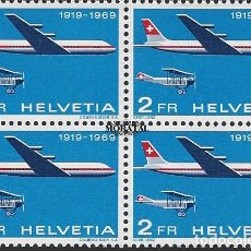 Timbres: 1969 SUIZA YV A-46 50º ANIV. CORREO AÉREO OFICIAL (YVERT&TELLIER). Lote 257374730