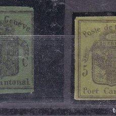 Sellos: FC152- CLÁSICOS SUIZA CORREO CANTONAL GENEVE (*). Lote 257746095
