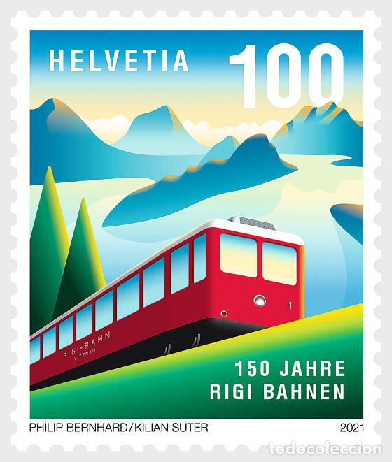 SWITZERLAND 2021 - 150 YEARS OF RIGI RAILWAYS MNH (Sellos - Extranjero - Europa - Suiza)