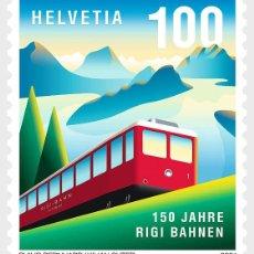 Sellos: SWITZERLAND 2021 - 150 YEARS OF RIGI RAILWAYS MNH. Lote 262572965