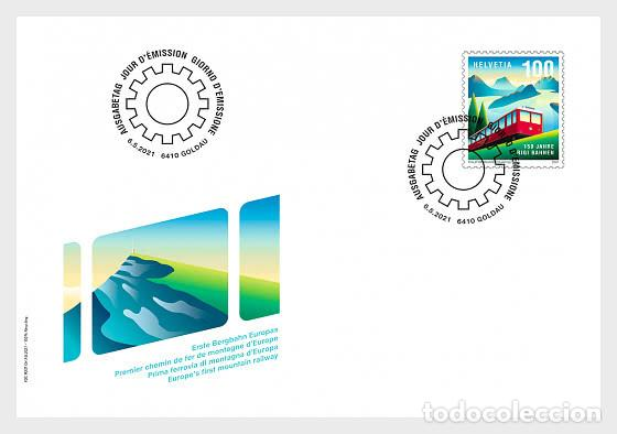 SWITZERLAND 2021 - 150 YEARS OF RIGI RAILWAYS FDC (Sellos - Extranjero - Europa - Suiza)