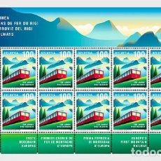 Sellos: SWITZERLAND 2021 - 150 YEARS OF RIGI RAILWAYS SHEET. Lote 262573195