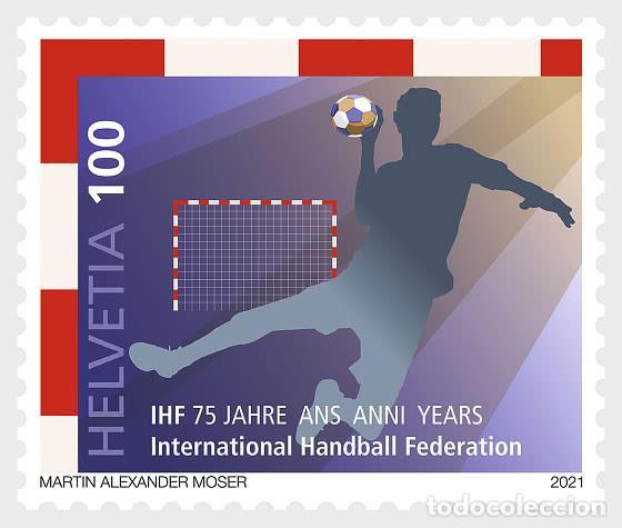 SWITZERLAND 2021 - 75 YEARS INTERNATIONAL HANDBALL FEDERATION (IHF) MNH (Sellos - Extranjero - Europa - Suiza)