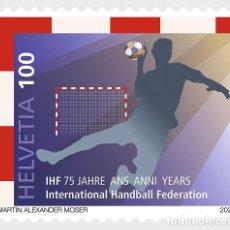 Sellos: SWITZERLAND 2021 - 75 YEARS INTERNATIONAL HANDBALL FEDERATION (IHF) MNH. Lote 262654155