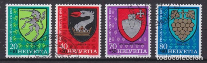 SUIZA 1979 - SERIE MATASELLADA (Sellos - Extranjero - Europa - Suiza)
