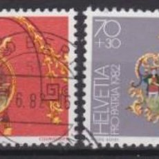 Sellos: SUIZA 1982 - SERIE COMPLETA MATASELLADA. Lote 262782845