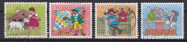 SUIZA 1984 - SERIE COMPLETA MATASELLADA (Sellos - Extranjero - Europa - Suiza)