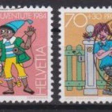 Sellos: SUIZA 1984 - SERIE COMPLETA MATASELLADA. Lote 262783005