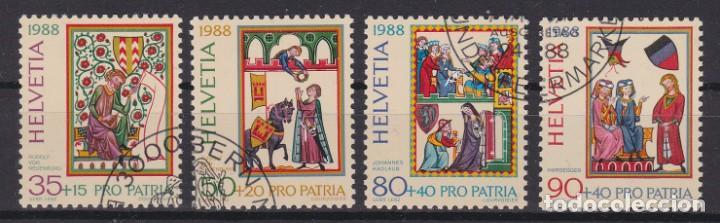 SUIZA 1988 - SERIE COMPLETA MATASELLADA (Sellos - Extranjero - Europa - Suiza)