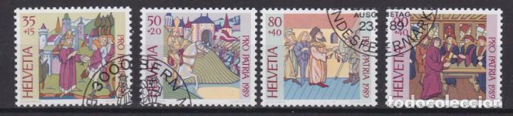 SUIZA 1989 - SERIE COMPLETA MATASELLADA (Sellos - Extranjero - Europa - Suiza)