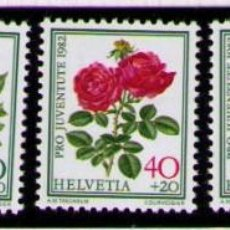 Sellos: SUIZA 1982 - FLORES - YVERT Nº 1165/1169**. Lote 262788620